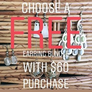 Free with purchase! Earring bundles